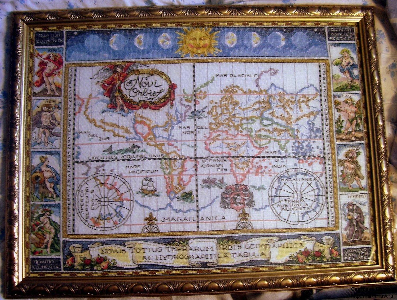 Карта кругосветного путешестия