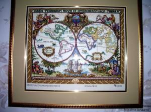 Страя карта мира