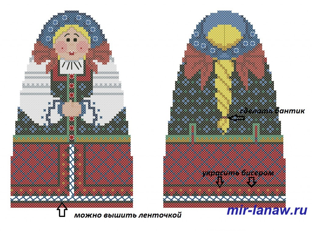 skrinmatreshka 2 1024x758 Объемная вышитая игрушка матрешка