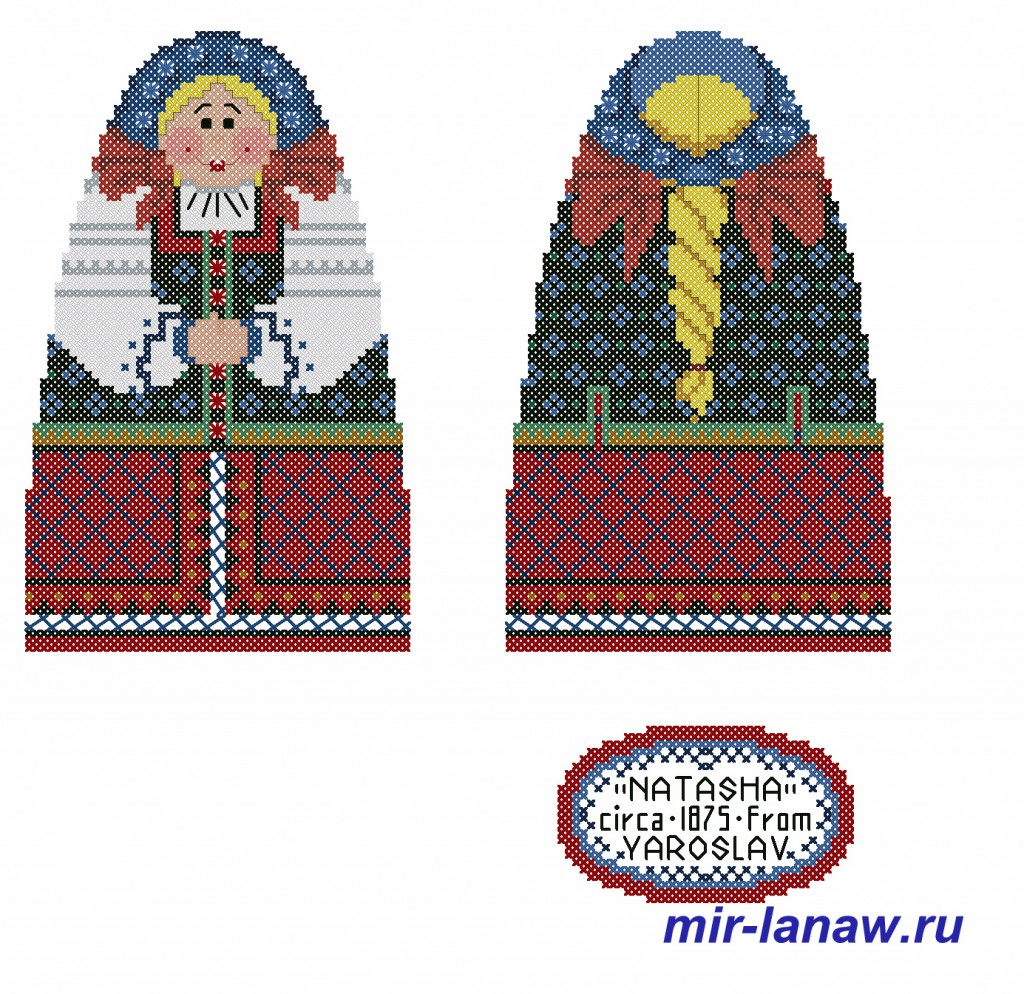 skrinmatreshka1 1024x994 Объемная вышитая игрушка матрешка