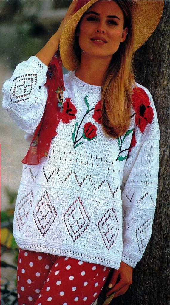 Как связать объемный женский свитер