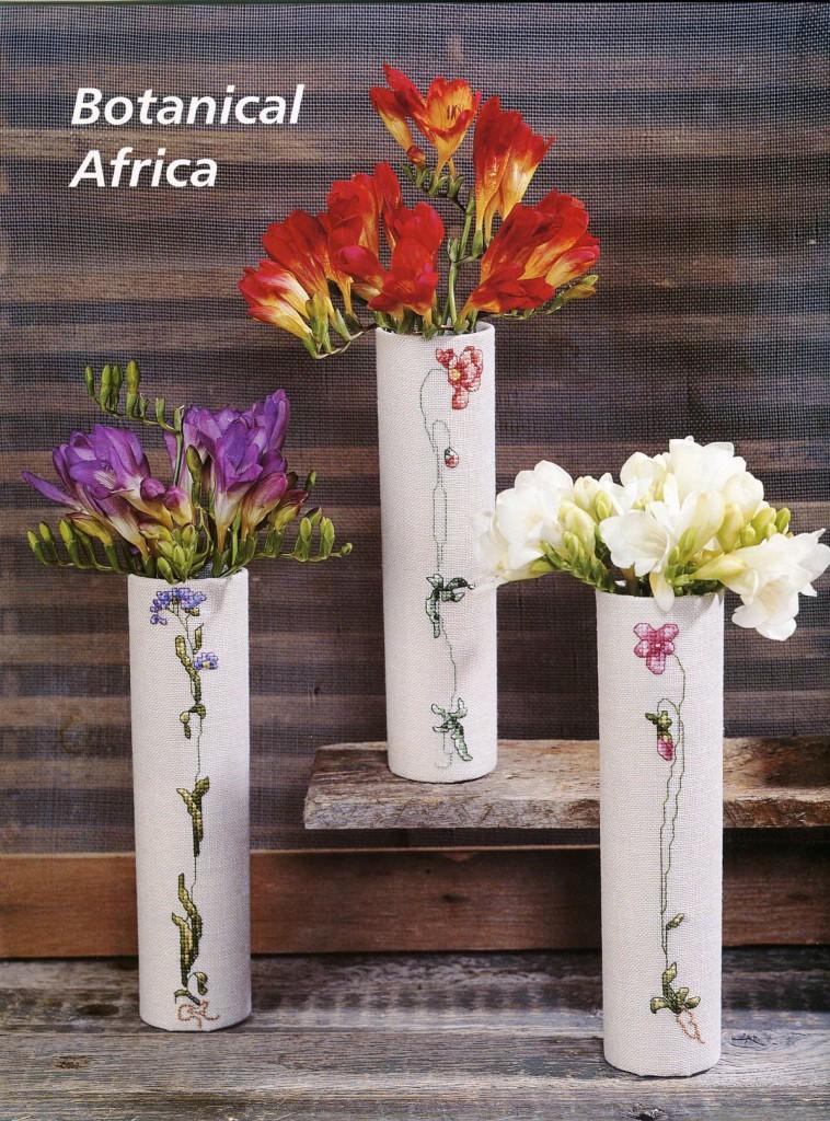 вышитые вазочки