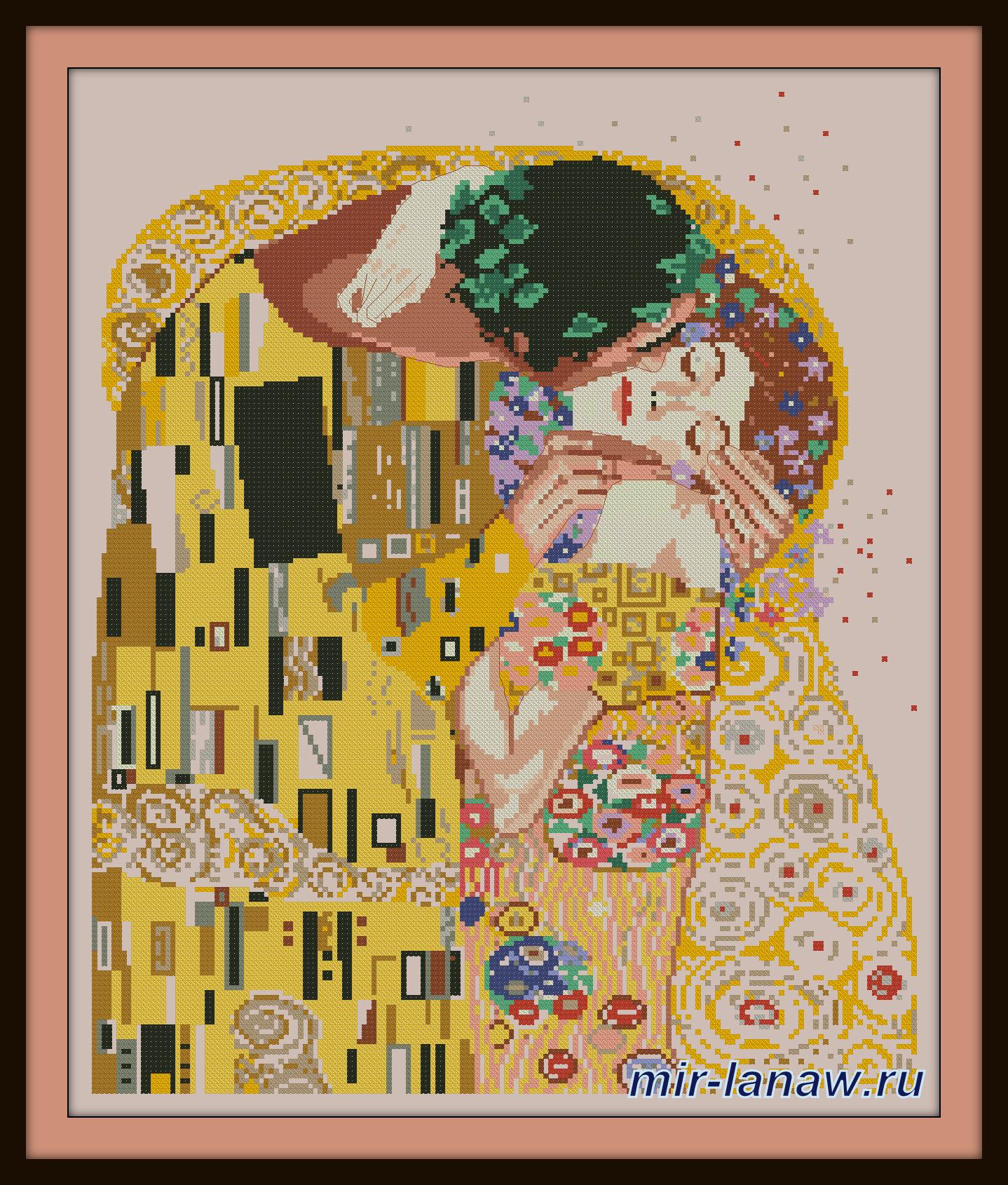 Схема к картине поцелуй